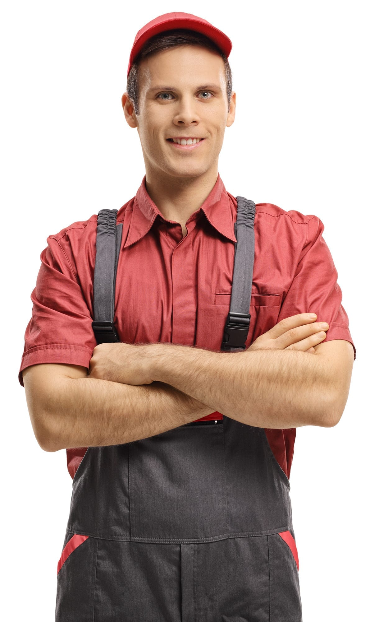 Repairman with his arms crossed